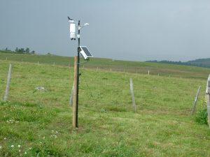 Station météo sur la réserve